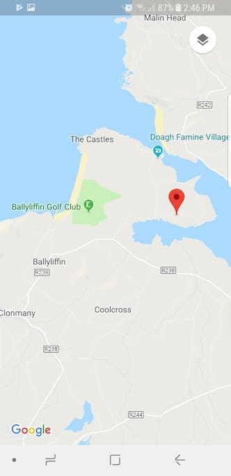 4 minute drive to Ballyliffin golf Club
