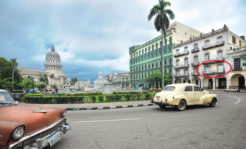 Apt. across from Havana's Capitol Building