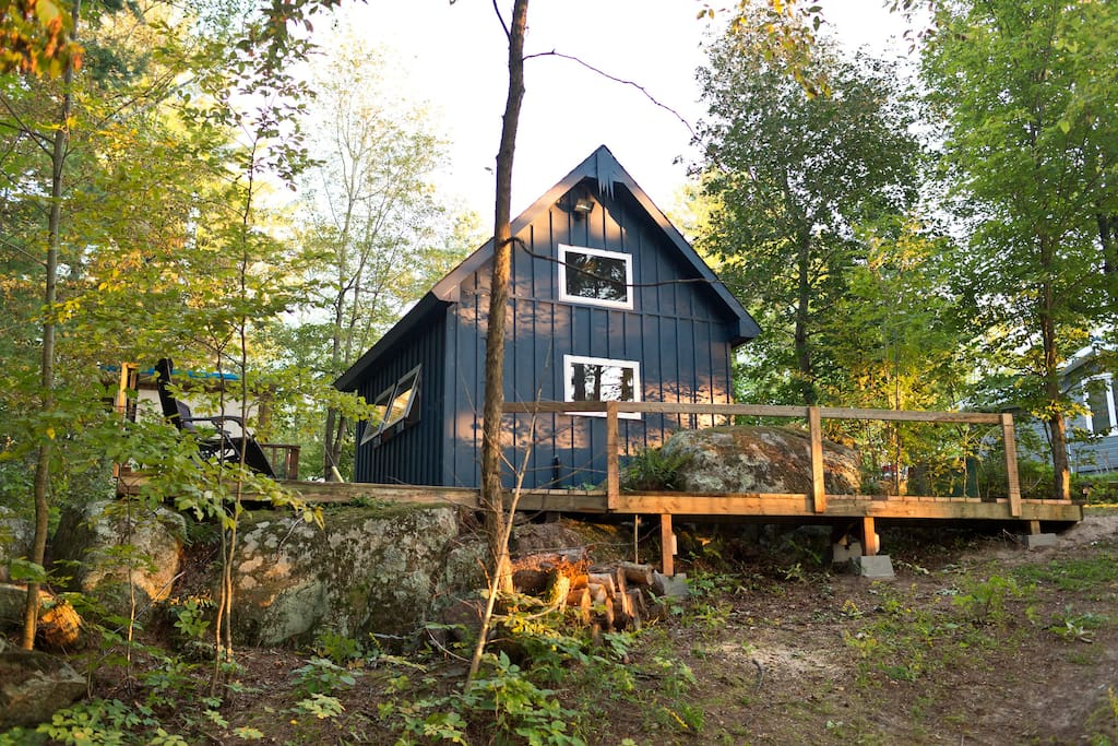 Cabin  with private deck. Photo curtesy of guest.