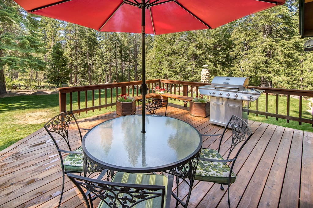 Fire up the grill on the front deck and enjoy an alfresco meal.