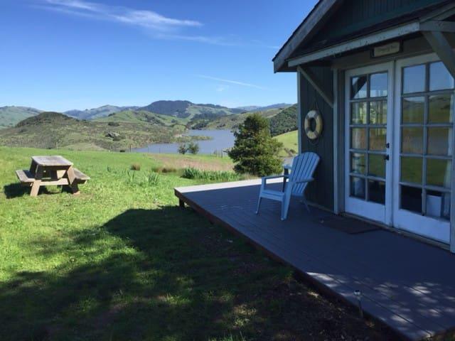 Black Mountain Farm pond house farm-stay Pt. Reyes