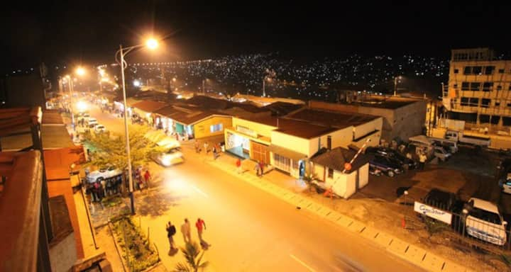 It is a vibrant area in Kigali.