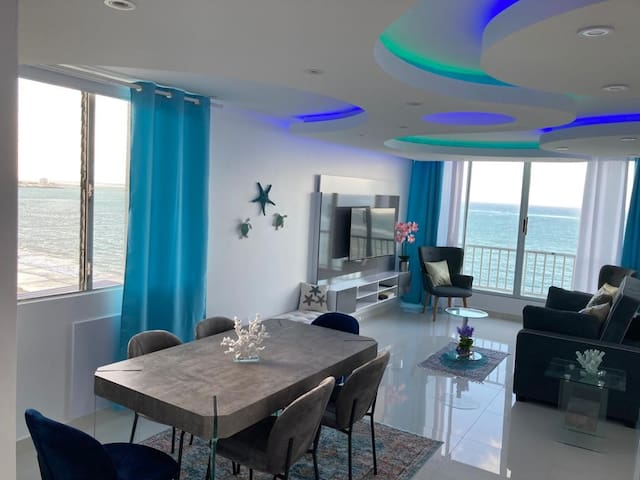 Milly 787-460-1794 New!! Completely Remodeled 14th Floor Panoramic Ocean Front Views! 2 Bedroom, 2 bathrooms, 3 beds. Fully Equipped