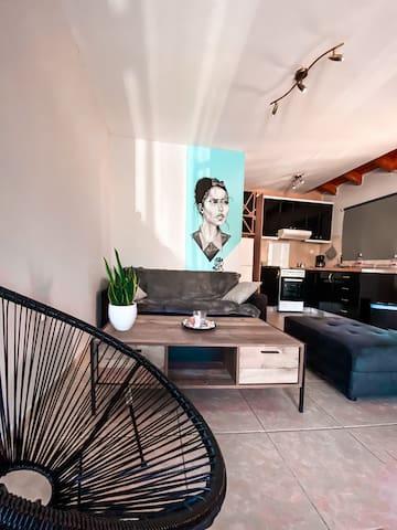 Loft design apartment (near the airport & the sea)
