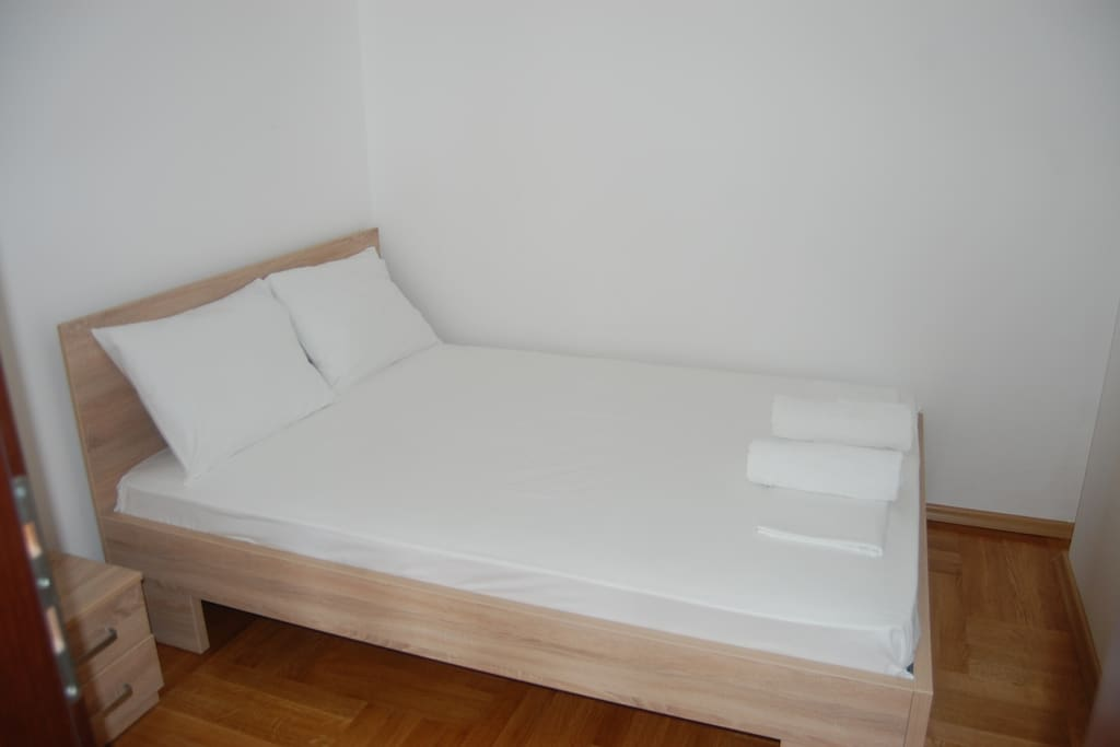 bedroom with large double bed