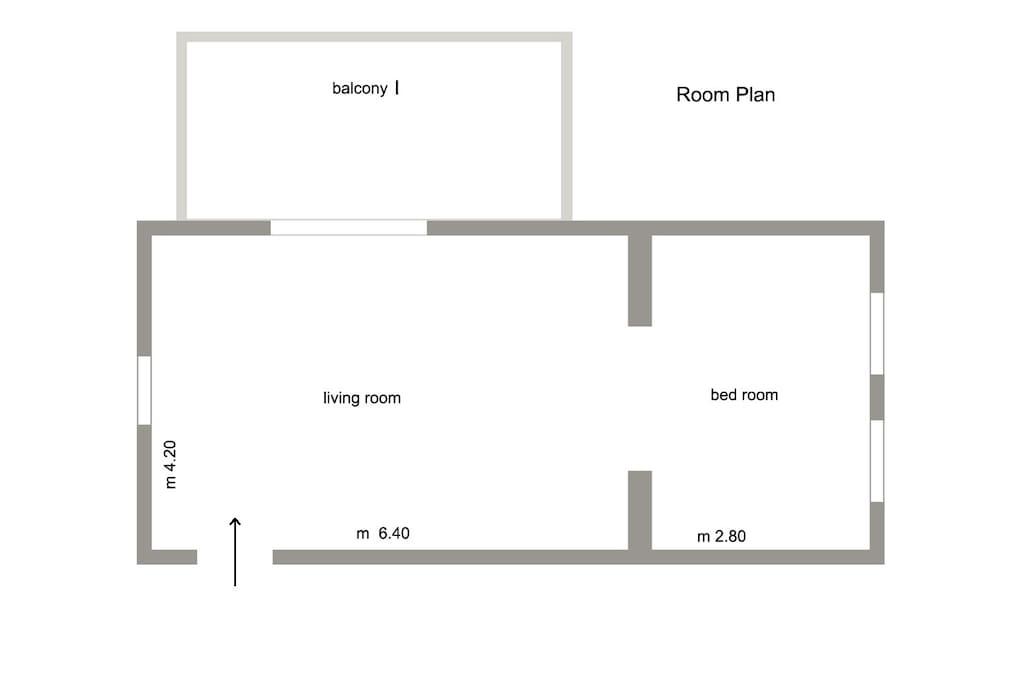 Room Plan + Balcony I