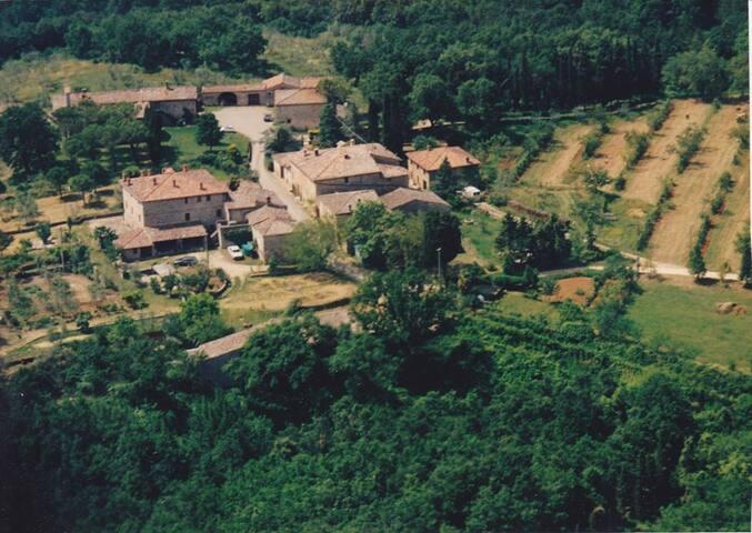 vista aerea di Colle Ciupi