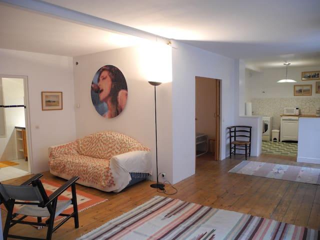 Appartement dans cour paysagée calme et agréable - Saint-Étienne - Appartamento