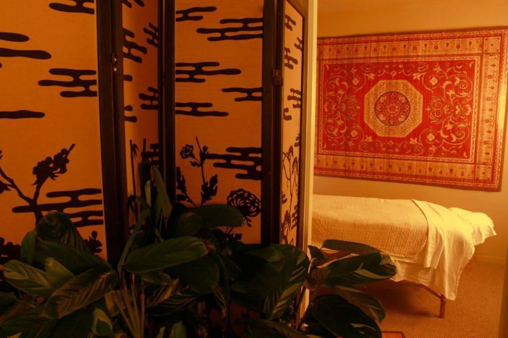 Massage and Infrared Sauna provided by your host at Sacred Roots