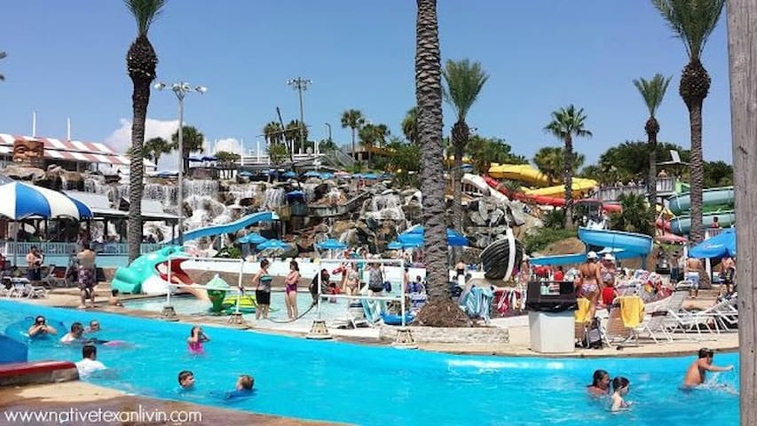 Big Kahuna Water Park (the largest Water Park on the Emerald Coast).   An easy walk that is less than a half mile from Mojo's front door.