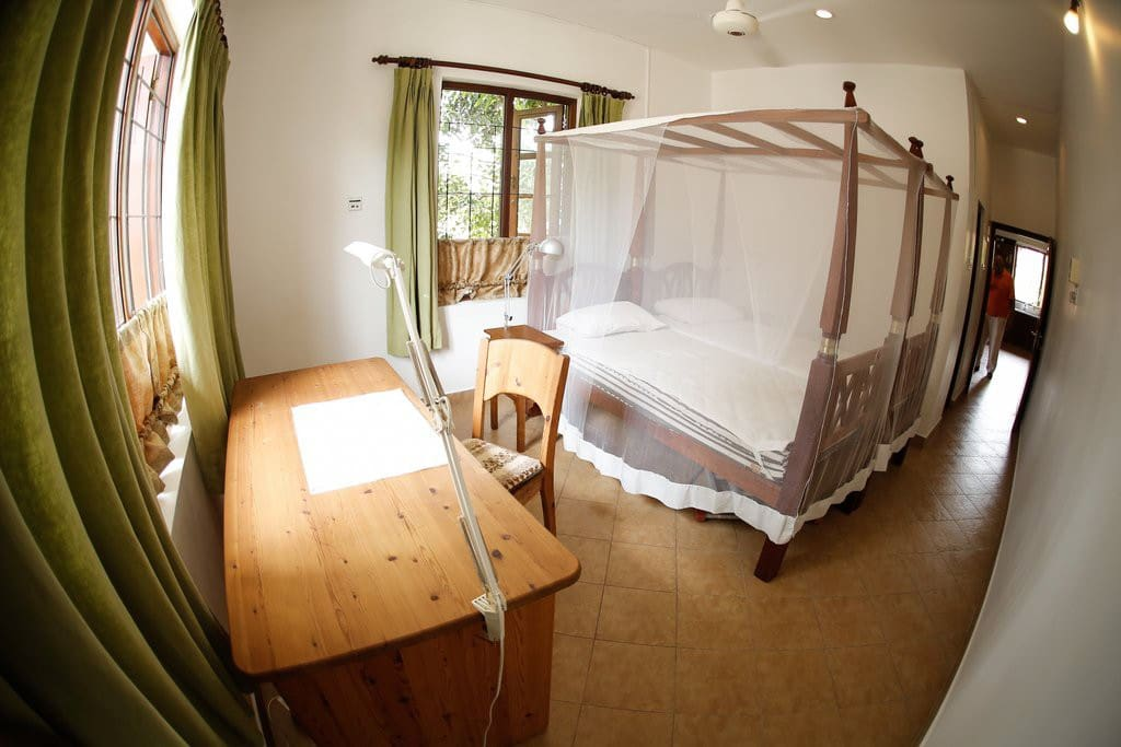 A/C, ceiling fans and mosquito nets will provide for a good nights sleep.