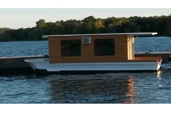 Floating Cabin*City Glamping*Bridge View*Parking
