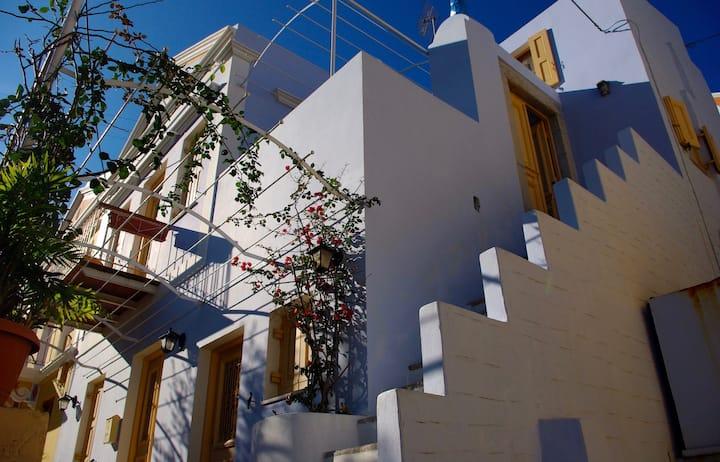 Blue House, sea view