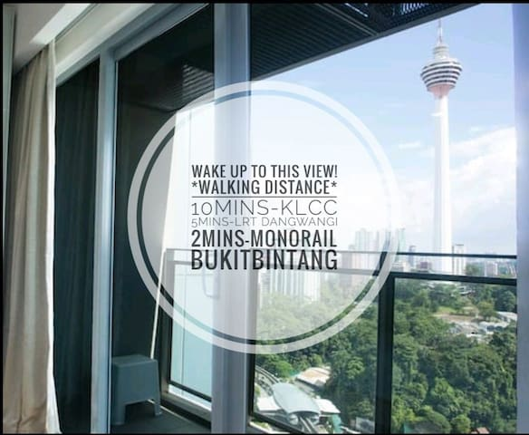 Homely Apartment In KL City Centre l KL Tower View