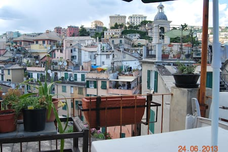 Attic in the ancient heart of Genoa - Genua - Appartement