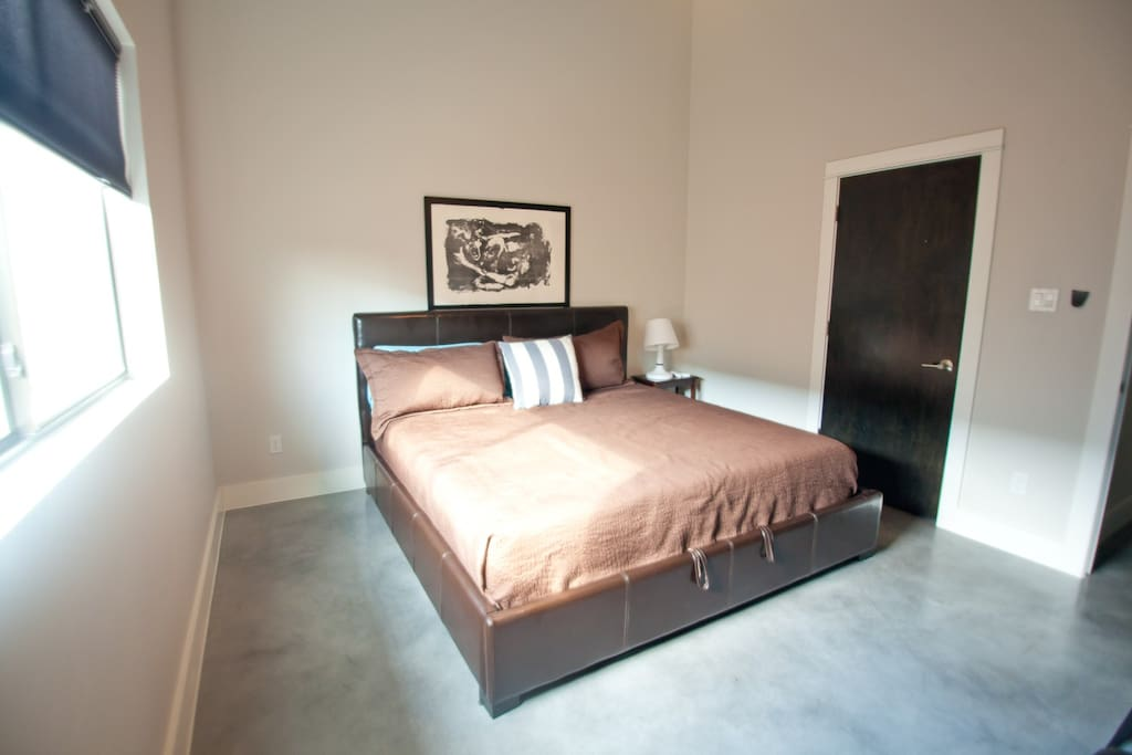 Downstairs Guest Room with King Sized Bed