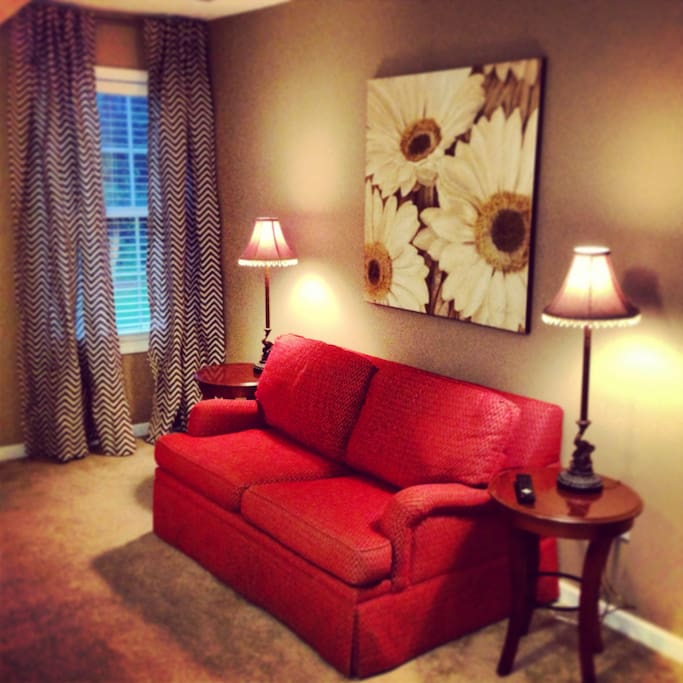Sitting Area in Master BR with Sleeper Sofa