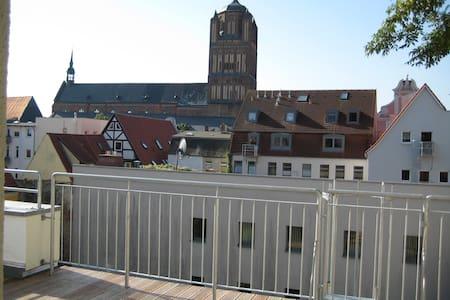 Panorama-Blick Stralsunder Altstadt - Stralsund