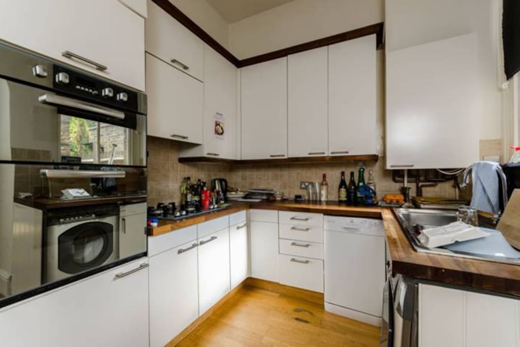 Kitchen with washing machine & dishwasher