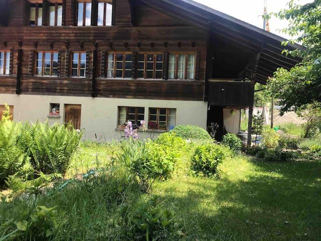 1 Zimm. Wohnung  Küche DU/WC  mit Gartensitzplatz.