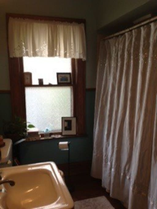 2nd Floor Shared Bath with Jet Tub & Powerful Shower