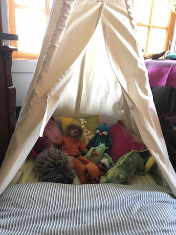 Please let me know if you have a little one who would appreciate their own tepee bed.  It's cute and I welcome the chance to use it.