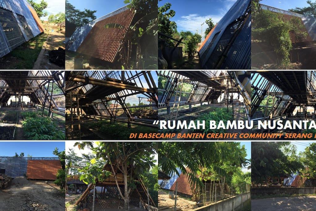 Rumah Bambu Nusantara di Basecamp BCC dan ABN