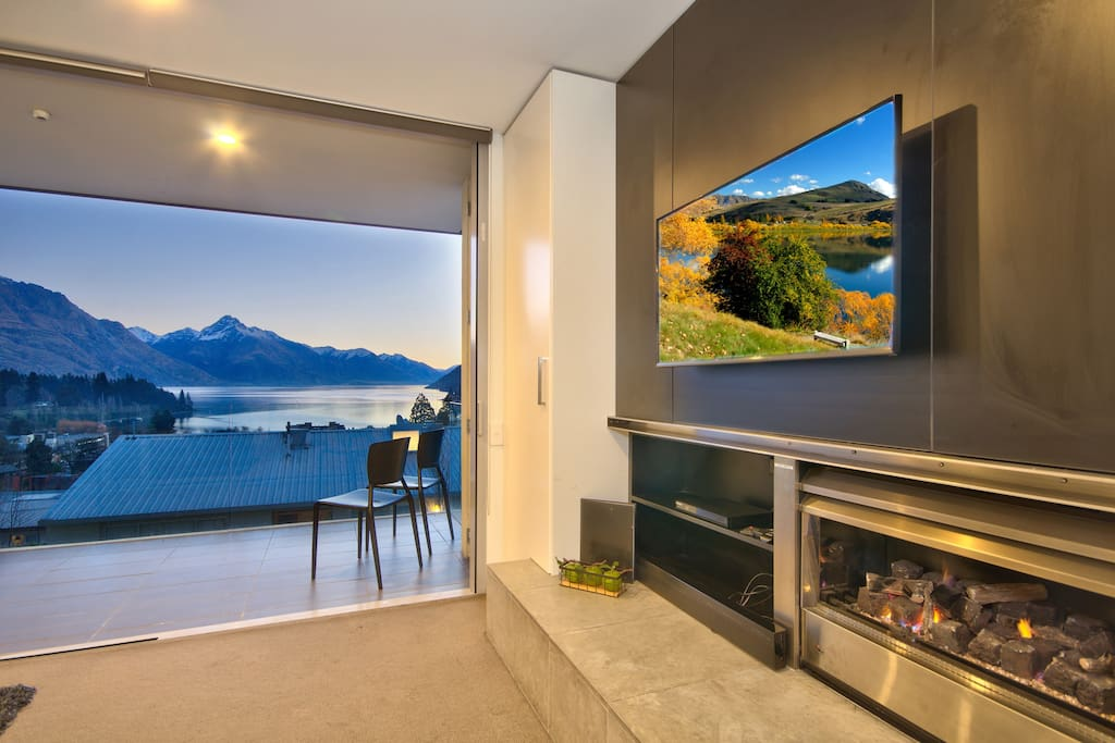 LED TV and gas fire