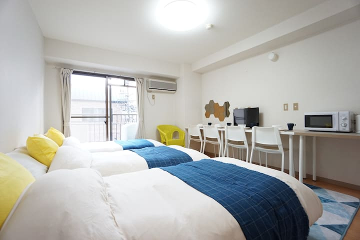 NewOpen★Private Apartment Near Namba,OCAT/FreeWifi