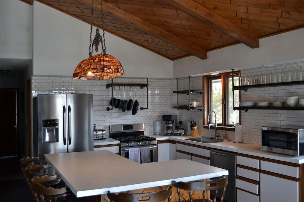 Newly renovated kitchen, located upstairs