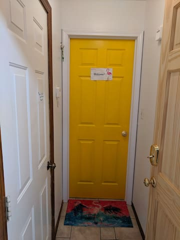 Entrance to Airbnb once inside the house.