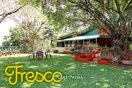 Fresco - Lake Pavna Private Pool Villa - 3 Bed - Lonavala - 別荘