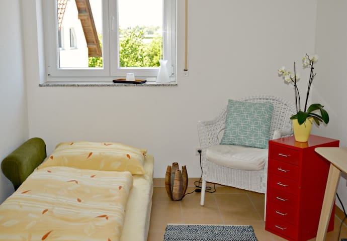 Zimmer in moderner Wohnung in Messenähe (3,5 km) - Friedrichshafen - Appartement