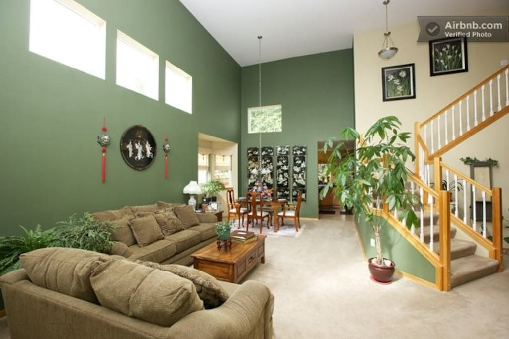 You will see our living and dinning room when you walk into our home