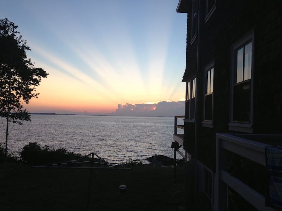 the cottage faces west, providing the most beautiful sunsets over the ocean