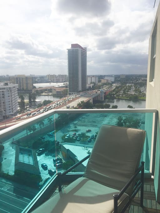 Panoramic city sunset views overlooking the intracoastal waters.