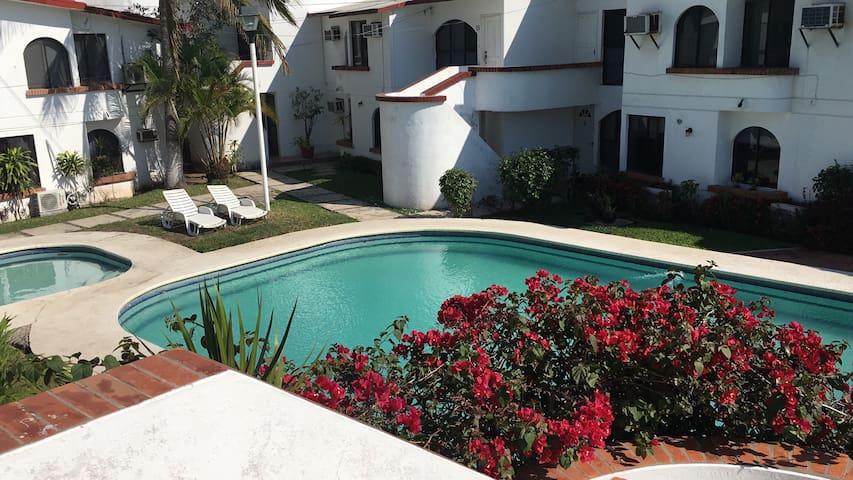 Bedroom near to the sea with pool - Boca del Río - Íbúð