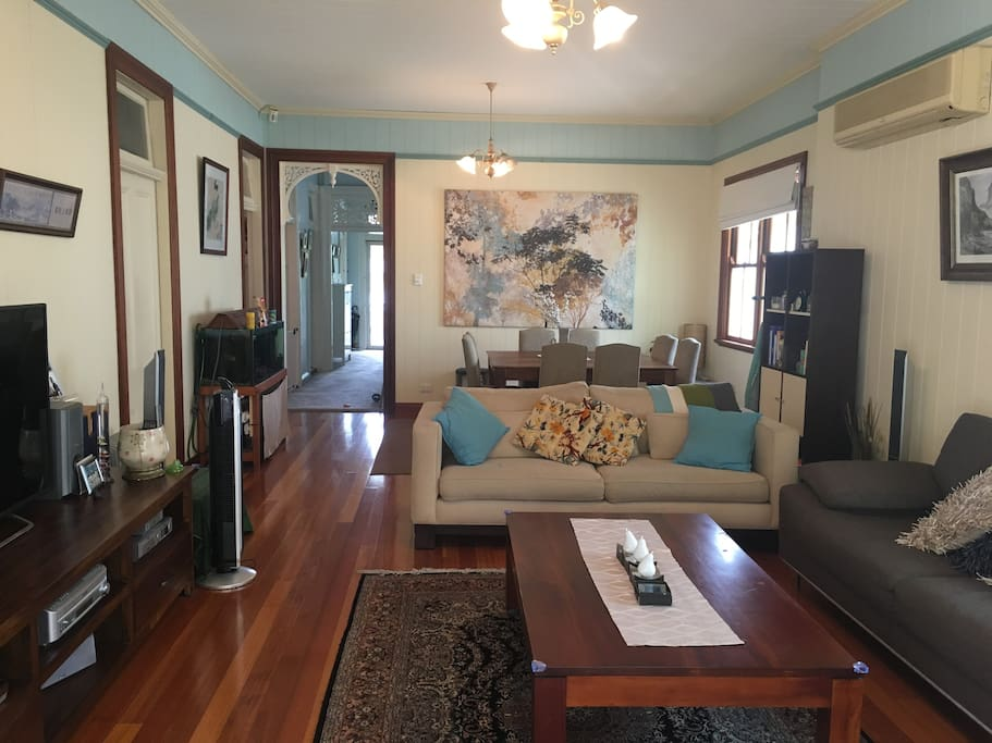 Renovated lounge and dining room with air conditioning