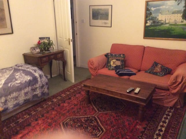 A large room with TV,WIFI,SOFA,