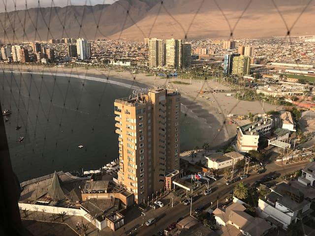 Departamento Amplio, vista Cavancha y Playa Brava