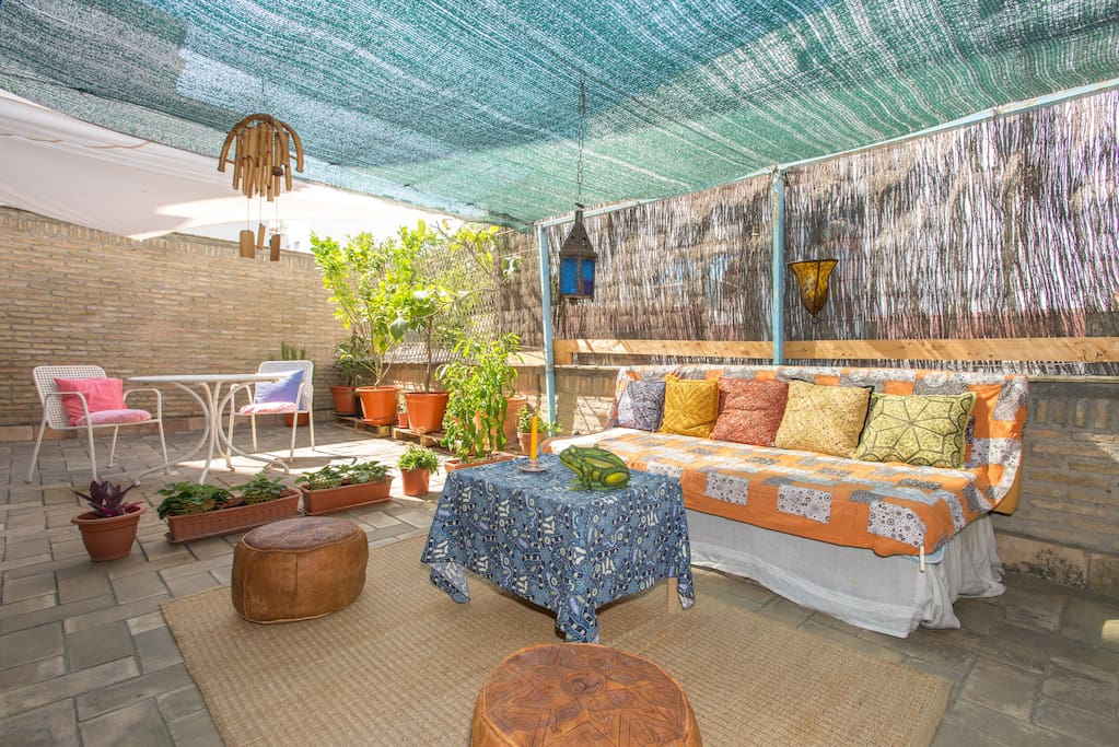 The Patio: Want to chill while staying at home? Experience the tea area with a Moroccan style decoration