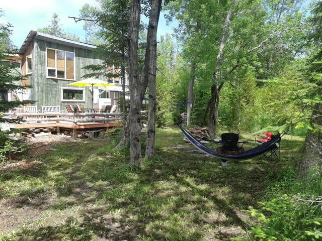 The Eldon Manner, Wilderness Cabin on an Island.