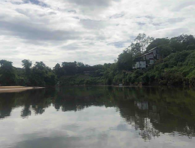 JungJa hut@ River Kwei # River mountain panorama