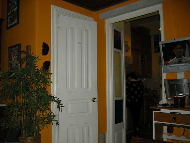 Close access to Kitchen and WC. Inside eating table and Wifi and Cable TV