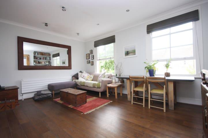 Sunny Highbury flat private bathroom & roofterrace