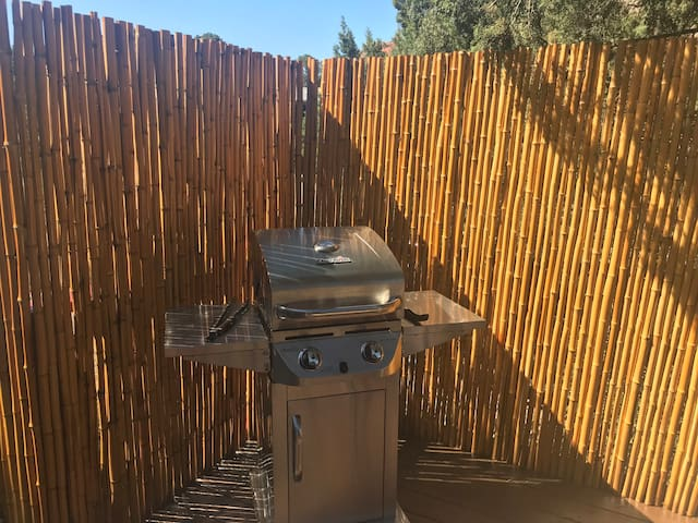 Bamboo deck and grill