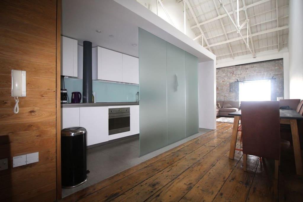 Open planned kitchen