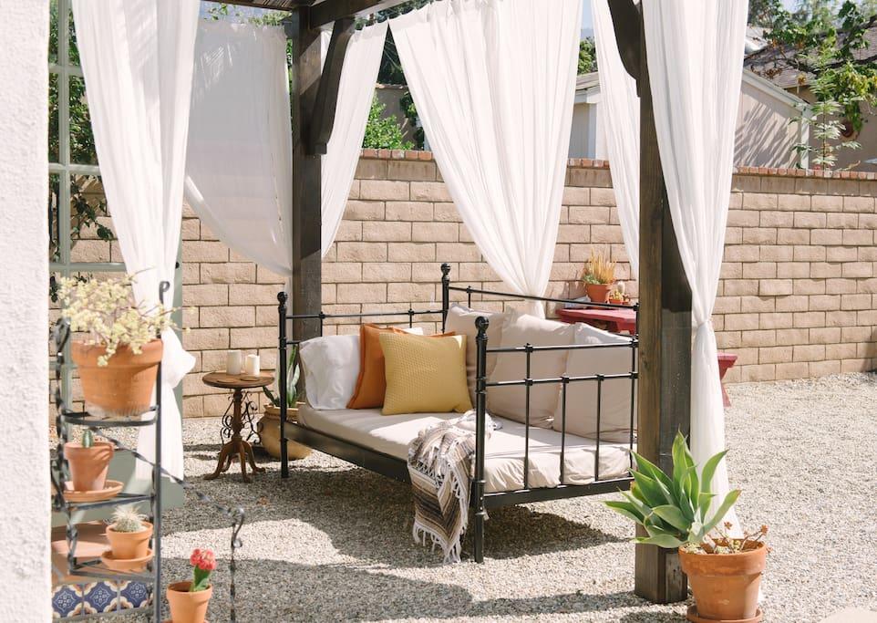Your private patio area.