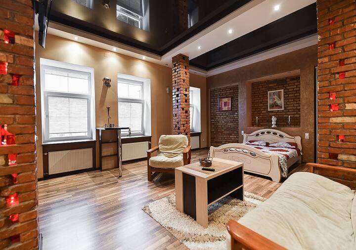 Реновированная студия на 3 спальных места.