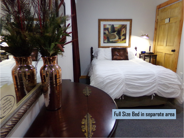 """Infinitely better than any hotel!  Quiet, extremely cozy, with everything you need.  Can fit 4-5 people comfortably..."""